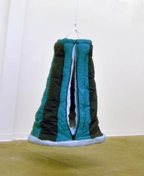 Puffy Pod Swing, 2007; wood, metal, sleeping bags; 3' x 3' x 4'