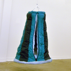 Puffy Pod Swing, 2007; wood, metal, sleeping bags; 3' x 3' x 4'