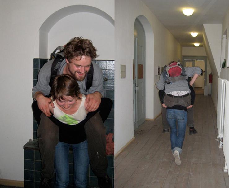 Huckepack Laufen (Piggy Back)